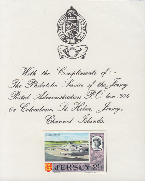 74379 - 1969 2/6D JERSEY PRE-DECIMAL IMPERFORATE PROOF (SG26). A very ...