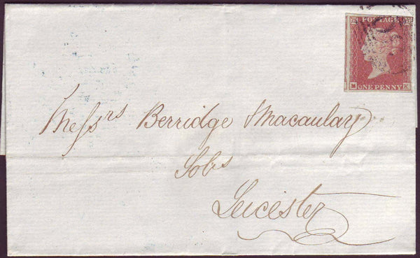 74404 - PLATE 91 (MK). 1849 wrapper Ashby de la Zouch to Leicester with f...