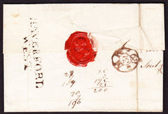 74419 - 1789 PEMBS/'HAVERFORD/WEST' TWO LINE HAND STAMP (W1040)QUEENS ANNE'S BOUNTY. Wrapper Haverfordwest to London dated 27th Ma...