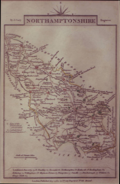 74470 - NORTHAMPTONSHIRE - MAP. A fine map by John Cary 18...
