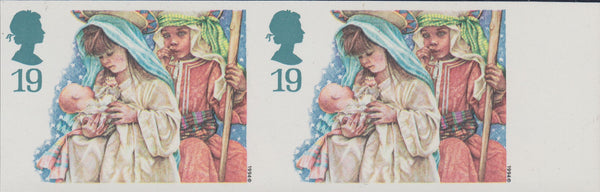 74800 - 1994 19P CHRISTMAS IMPERFORATE PAIR (SG1843a). A s...