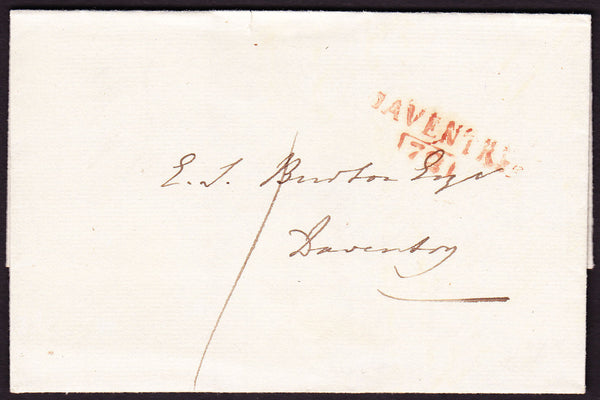 74852 - NORTHANTS/'DAVENTRY 72' MILEAGE MARK (NN47). Undated entire used loc...