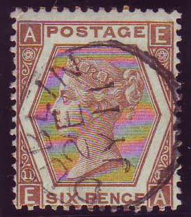 74854 - 1872 6d chestnut pl.11 (SG122). A fine to very fin...