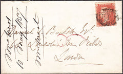 74964 - PL.48 (OK)(SPEC C9). 1857 envelope Flint to London...