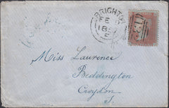 74981 - BROWN-ROSE SHADE (SG32)/PL.40 (CJ). 1857 envelope ...