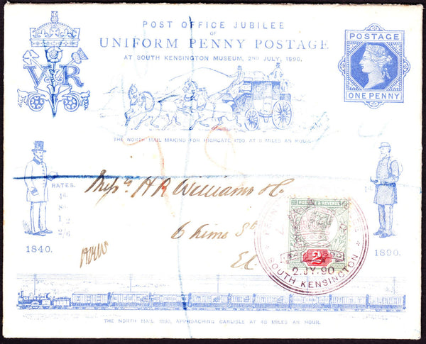 75069 - 1890 SOUTH KENSINGTON EXHIBITION. A fine 1d blue e...