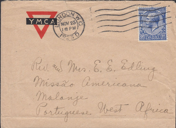 75227 - 1923 MAIL LONDON TO MALANJE PORTUGUESE WEST AFRICA (NOW A...