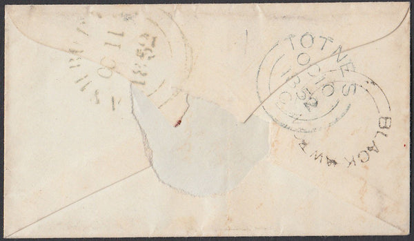 "75312 - DEVON. ""BLACK-AWTON"" UDC IN BLACK. 1852 envelope T..."