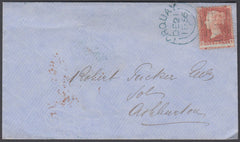 75342 - 1856 'TORQUAY/806' SIDEWAYS DUPLEX IN BLUE ON COVER.