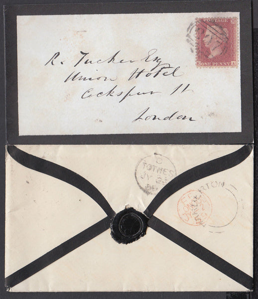75389 - 1859 DEVON/'HARBERTON' UDC. Fine mourning env...