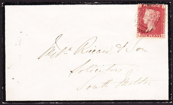 "75403 - 1867 DEVON/""B84"" BARRED NUMERAL OF HALWELL. 1867 m..."