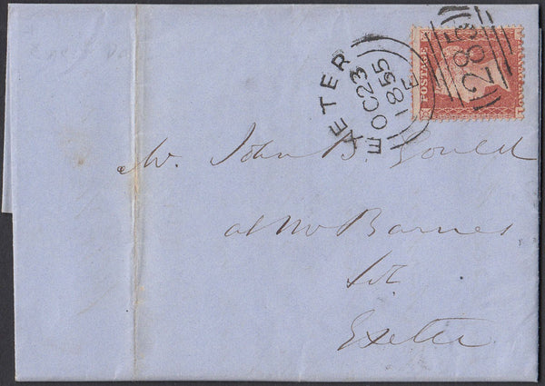 75515 - 1855 EXETER SIDEWAYS DUPLEX ON COVER. Entire used loc...