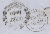 75855 - PL.75 (GD)(SG8)/BANKING RECEIPT ENVELOPE/KENT. 1848 envelope Maidstone to Wroth...