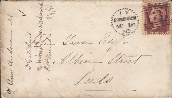 76097 - EDINBURGH DOTTED CIRCLE TYPE A9 (RA9)/PL.117(SG43)(IA). Envelo...