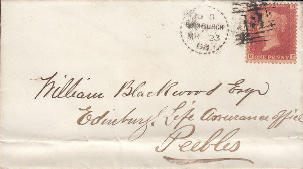 76108 - EDINBURGH DOTTED CIRCLE TYPE A5 (RA5)/PL.76(SG43)(DF). Envelo...