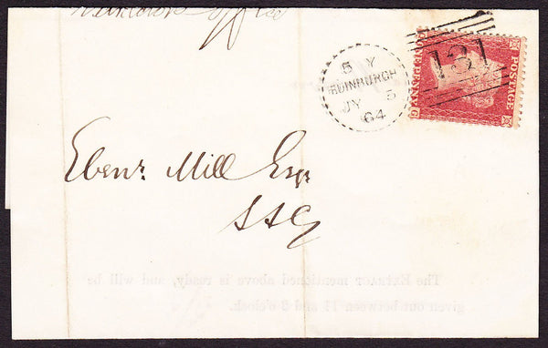 76119 - EDINBURGH DOTTED CIRCLE TYPE A5 (RA5). 1864 wrappe...