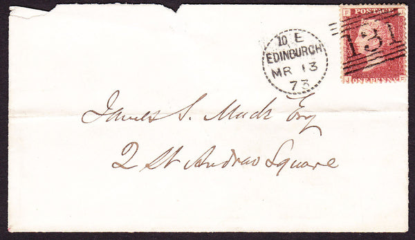76158 - EDINBURGH DOTTED CIRCLE TYPE A10 (RA10)/PL.120(SG43)(JF). Enve...