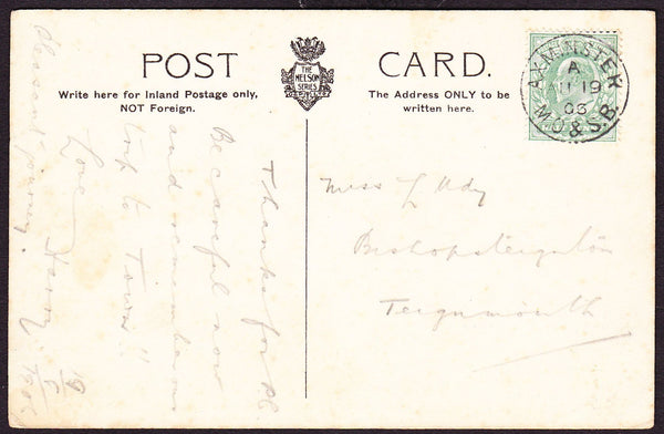 76170 - DEVON. 1906 post card to Teignmouth