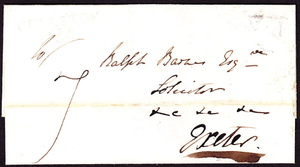 76182 - 1832 DEVON/AXMINSTER PENNY POST. 1832 wrapper dated March 9th to Exeter with...