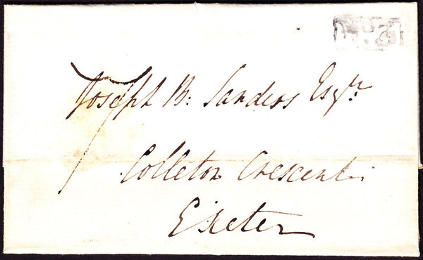 76183 - DEVON. 1833 wrapper dated November 1st to Exeter (...