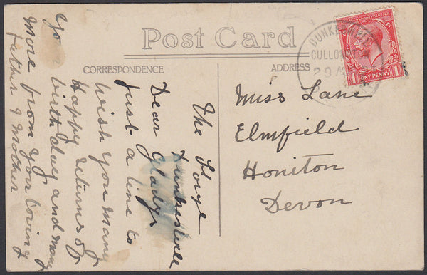 76360 - DEVON. 1927 local post card to Honiton with KGV 1d...
