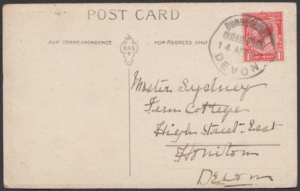 76364 - DEVON. 1927 post card to Honiton with KGV 1d cance...