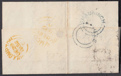 76376 - 1852 DEVON/'BRADNINCH' AND 'HELE' UDC'S/PL.144(IH)(SG8). Letter Hele to Plymo...