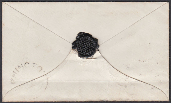 76495 - DEVON. 1856 envelope with SG29 (corner faults and ...