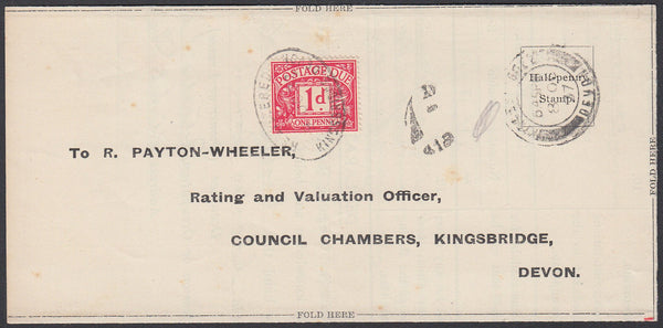 76605 - 1937 UNDERPAID MAIL. Printed wrapper re prop...