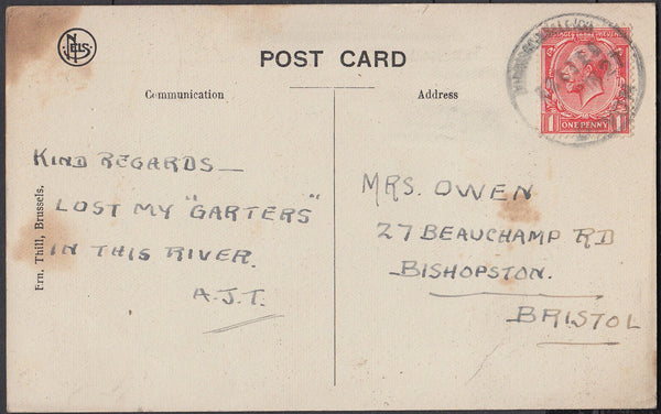 76628 - DEVON. 1927 post card to Bristol (slight soiling) ...