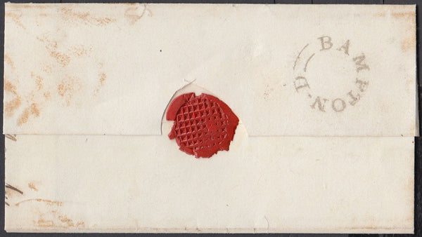 76674 - DEVON/'BAMPTON-D' UDC (DN46). Undated wrapper (circa 1835) to Exeter with...