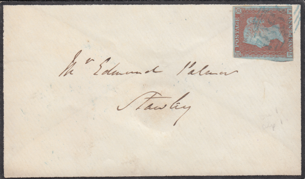 76677 - DEVON. 1851 mourning envelope Wellington to Stawle...