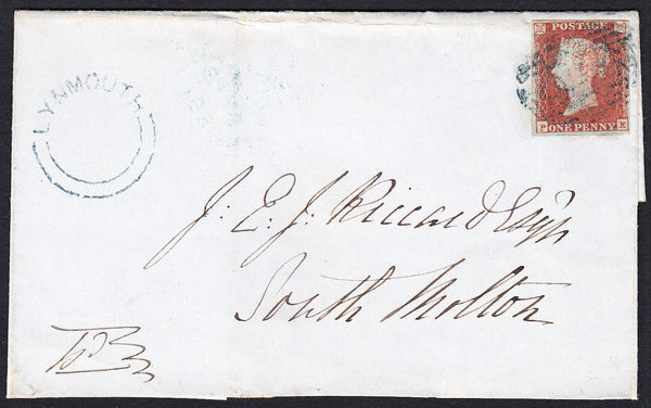 76680 - DEVON/'LYNMOUTH' UDC/PL.105(PE)(SG8). 1851 large part wrapper t...