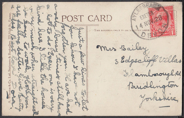 76748 - DEVON. 1928 post card of Mol's Coffee House, Exete...