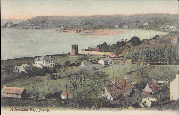 77294 - JERSEY. 1907 post card of St Brelades Bay, Jersey ...