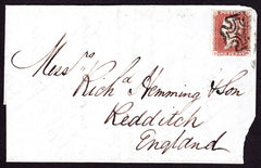 77309 - 1841 1D RED PLATE 1B (RD)(SG7). A fine used exampl...