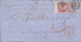 77341 - 1860 REGISTERED MAIL LONDON TO MACCLESFIELD. Wrapper London to...
