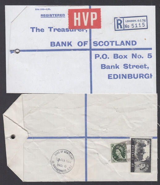 77627 - 1964 HIGH VALUE PACKET SERVICE/£1 CASTLE ISSUE. Li...