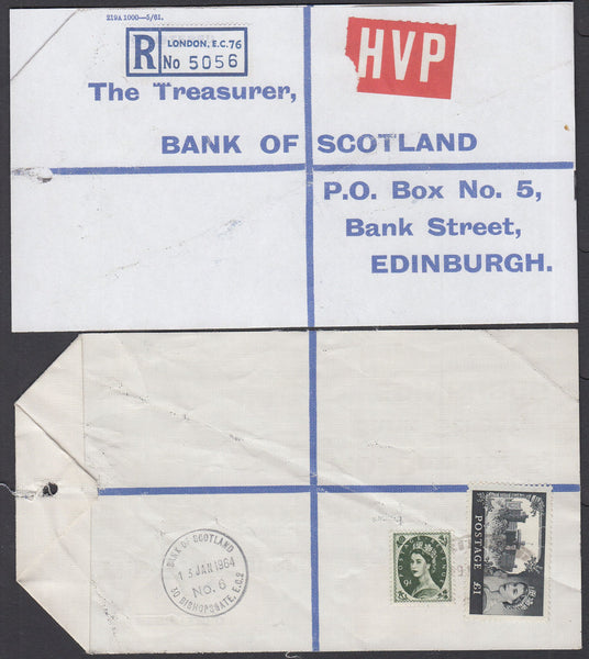77638 - 1964 HIGH VALUE PACKET SERVICE/£1 CASTLE ISSUE. Li...