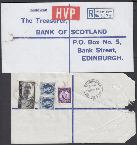 77641 - 1964 HIGH VALUE PACKET SERVICE/£1 CASTLE ISSUE. Li...