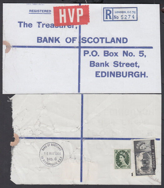 77643 - 1964 HIGH VALUE PACKET SERVICE/£1 CASTLE ISSUE. Li...