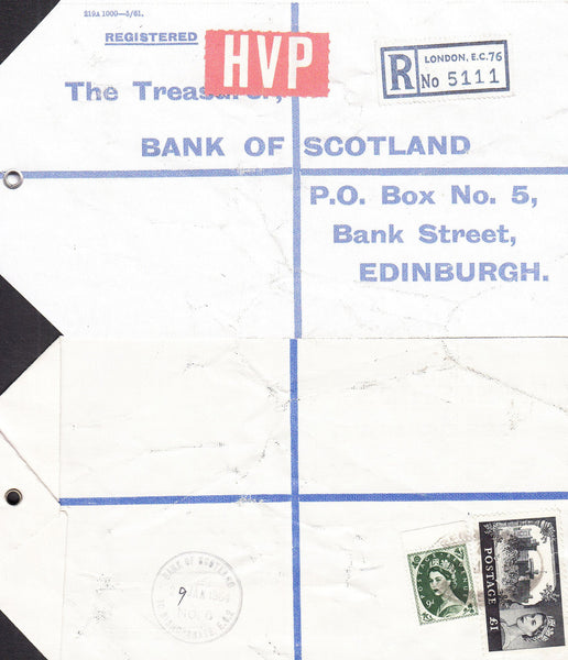 77654 - 1964 HIGH VALUE PACKET SERVICE/£1 CASTLE ISSUE. Li...