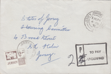 77721 - 1971 envelope used locally in Jersey with 2 x Jers...