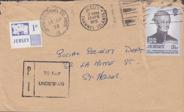 77726 - 1975 envelope used locally in Jersey with Jersey 3...