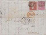 77773 - SG62 USED ON COVER (CAT. £750) LONDON TO LYON/PL.24 (LG) (SG29). ...