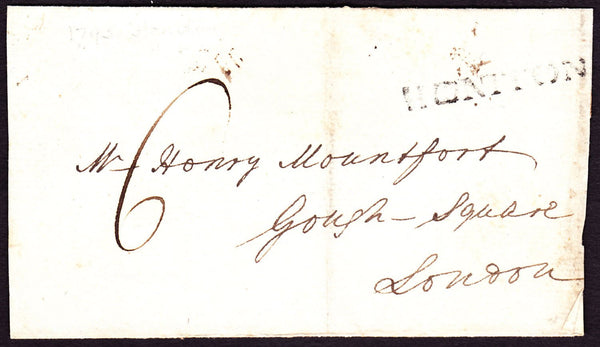 77860 - DEVON. 1793 wrapper (no side flaps) Honiton to Lon...