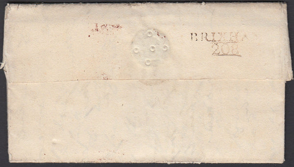 "77984 - DEVON. 1801 wrapper Brixham to ""Millers Hotel, Jer..."