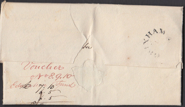 77992 - DEVON. 1828 letter Brixham to Plymouth dated Sept ...