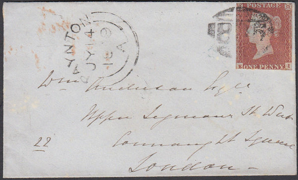78030 - DEVON. 1849 envelope Paignton to London with 1d im...