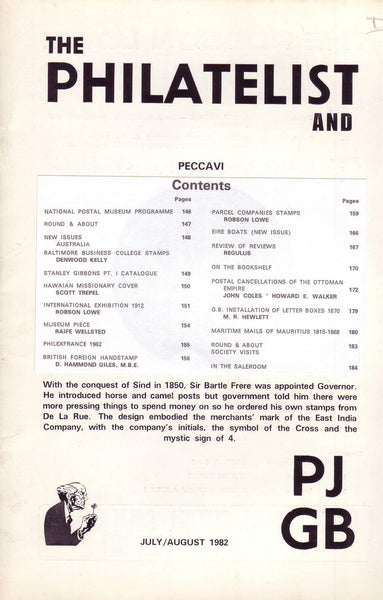 "78102 - ""THE PHILATELIST AND PJ GB - JUL/AUG 1982."" See co..."